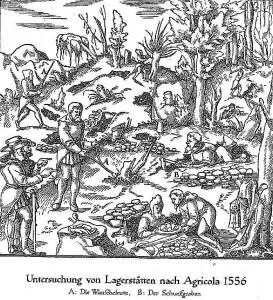 Untersuchung von Lagerstätten nach Agricola 1556